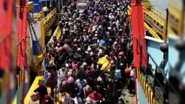 Imbas Larangan Mudik Nasional, Ribuan Orang Padati Pelabuhan Kolaka – Bajoe