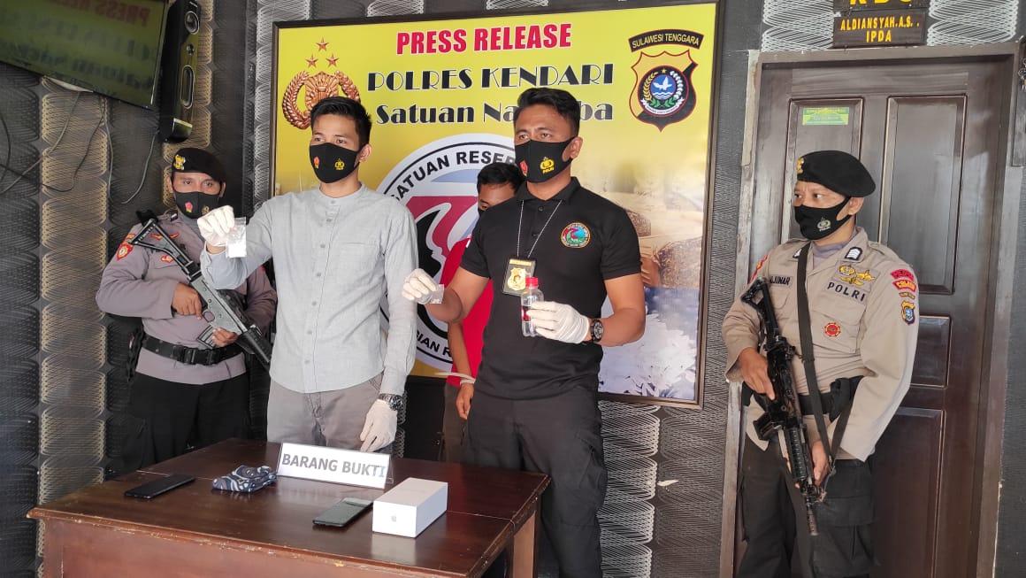 Polisi Ciduk Mahasiswa di Kendari Gegara Miliki Sabu 7,70 Gram