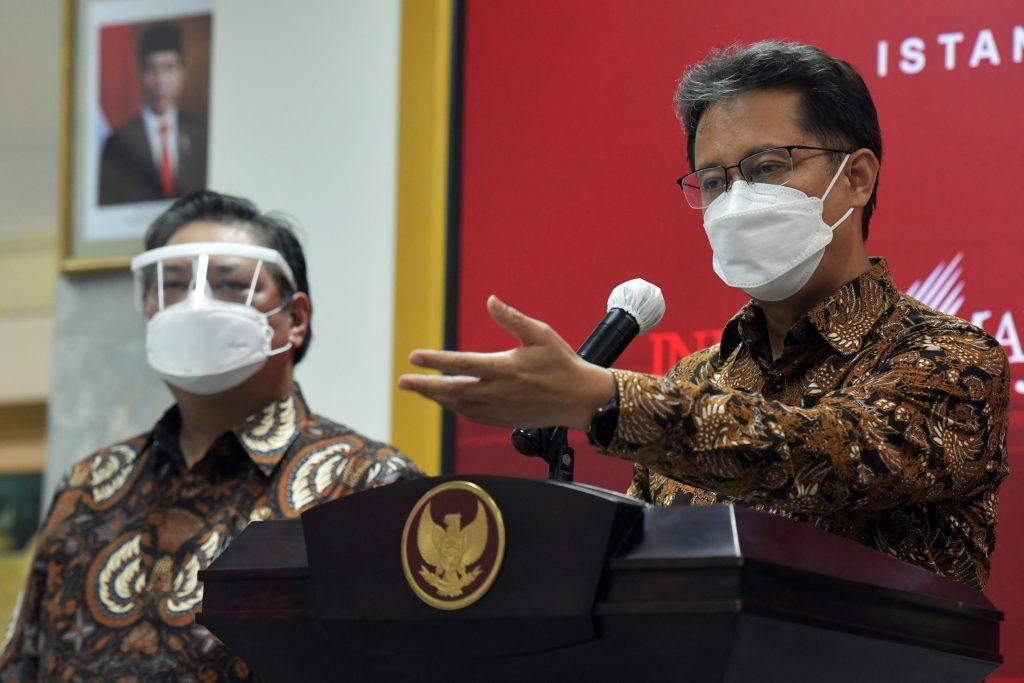 Menteri Kesehatan, Budi Gunawan saat menyampaikan keterangan pers usai rapat terbatas bersama Presiden Jokowi. Foto: Sekretariat Presiden.