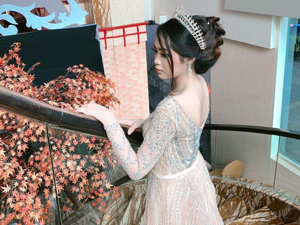 Naqia Amanda Putri sebagai model di Wedding Expo 2020.