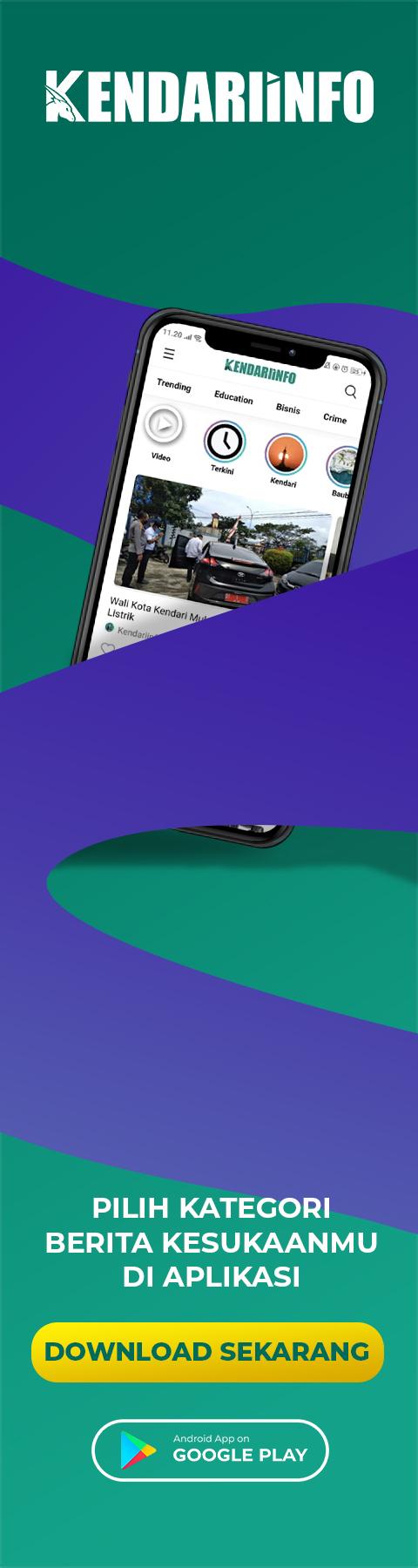 Banner melayang aplikasi kendariinfo