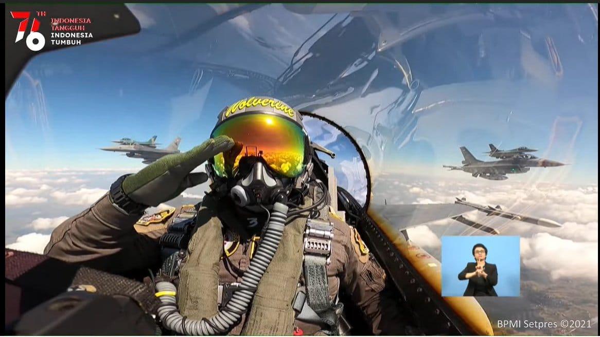 Pilot Jet Tempur asal Muna Manuver di Langit Jakarta saat HUT RI