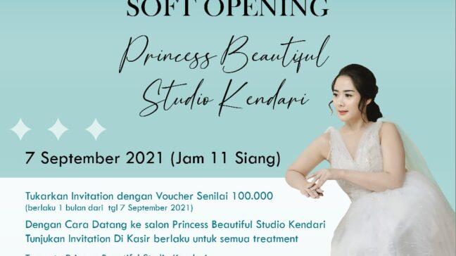 Soft Opening Princess Beautiful Studio Kendari, Ada Ragam Tawaran Menarik untuk Perawatan