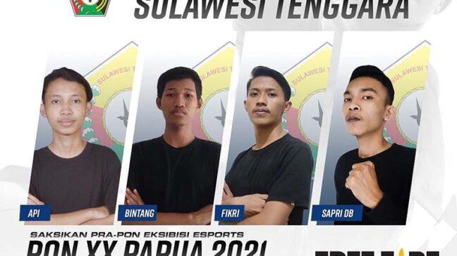 Selamat! Esport Free Fire Sultra Lolos ke PON 2021