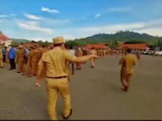 Ruksamin Marahi ASN yang Tidak Pakai Masker saat Upacara di Konut