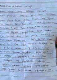 Maling di Kendari Kembalikan Hasil Curian dan Titip Surat untuk Korban